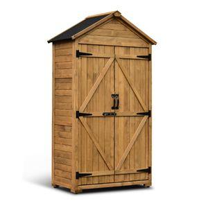MCombo Gartenschrank Geräteschuppen Werkzeugschrank Outdoor-Schrank Holz 1000D