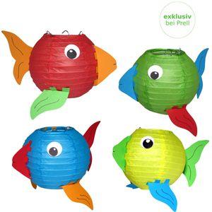 Laternen Bastelset Fische vorgedruckt, 4 Stück