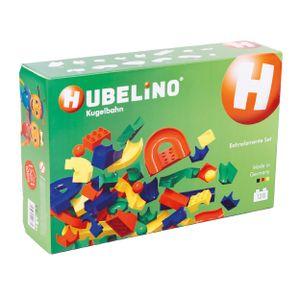 Hubelino, 128-teiliges Bahnelemente-Set, neue Mischung für Kugelbahn, 420381
