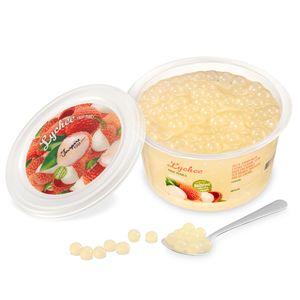 Popping Boba Fruchtperlen für Bubble Tea, Litschi, 450 Gram