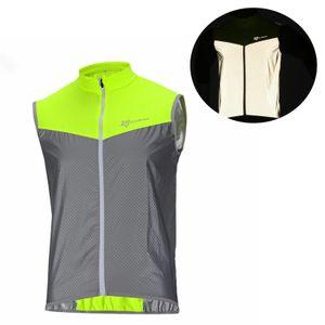 ROCKBROS Reflektierend Fahrradweste gr. 3XL Fahrrad Weste Grün Atmungsaktiv