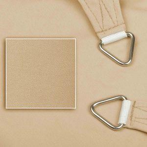 hanSe® Marken Sonnensegel 100% Polyester Dreieck 3x3x3 m Sand