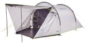 High Peak Tunnelzelt 3 Personen, hitzeabweisend Campingzelt mit Vorbau mit und Zeltboden, Trekkingzelt mit großem Stauraum, 3.000 mm wasserdicht, UV 80 Sonnenschutz, Innenzelt abgedunkelt