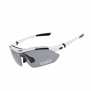 ROCKBROS Fahrradbrille PolarisiertBrille UV400 Weiß