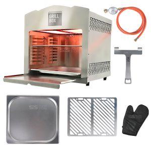 Matrix GrillBox 880XL Oberhitze-Grill 800 Grad Beef Maker Gasgrill Edelstahl Grill Steak