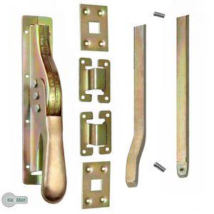 1 Set Tortreibriegel Torverschluss Türtreibriegel Stangen 2740 mm Vierkant 14 mm