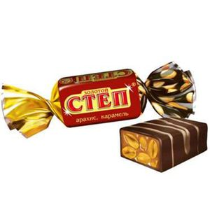russisches Konfekt Zoloty Step Karamell & Erdnüsse 1kg candy