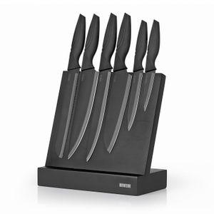 Küchenmesser Kochmesser Messer Messerset Messerblock 6er Set Midnight Edition