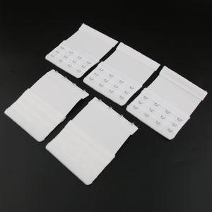 5Pack Womens BH Extender 4 Hook 3 Rows Bra Extension Underwear Straps Weiß Farbe Weiß