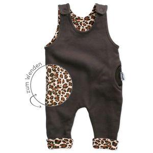 Baby Mädchen Strampler zum Wenden Leoparden Print dunkelbraun 62 (0-3 Monate)