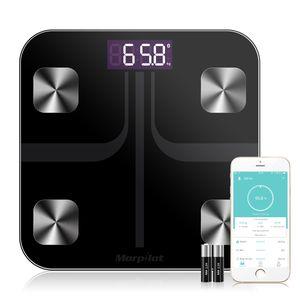 Körperfettwaage mit App Smart Bluetooth Digitale Personenwaage, NICEFUSE Körperwaage für iOS & Android Smart Waagen Körperfettmonitor
