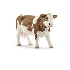Schleich - Tierfiguren, Fleckvieh-Kuh; 13801