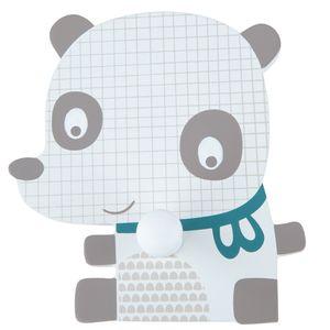 Bieco Garderobe Kinder Panda | Kindergarderobe Holz | Garderoben Haken | Wandgarderobe Holz | Kleiderhaken Kinder | Garderobenleiste Kinder 12 cm | 1 Garderoben Haken | Garderobe Holz Wandhaken