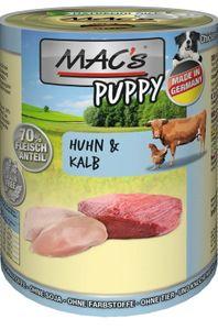 6x400g MAC's Puppy Huhn & Kalb Hunde Nassfutter