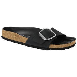 BIRKENSTOCK Madrid Big Buckle Damen Pantoletten Black Schuhe, Größe:38