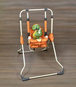 Schaukel für Kinder, Zimmerschaukel, Babyschaukel, Dino Orange
