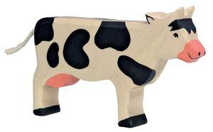 Kuh schwarz Bauernhof Holzfigur Holzspielzeug von Holztiger