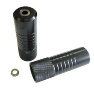 BMX Axle Pegs Set 38mm Ohne 10/14mm Wire Black