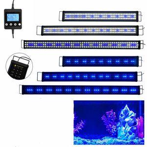 Lumiereholic 120cm LED Aquarium Beleuchtung Aufsetzleuchte Pflanzenwachstum Licht Blau+Weiß ,mit Timer( 120cm-140cm)