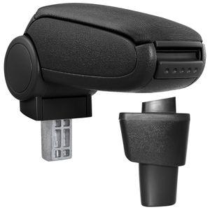 [pro.tec]® Hyundai i10 II 2014- Mittelarmlehne Textil schwarz Armlehne PKW Auto