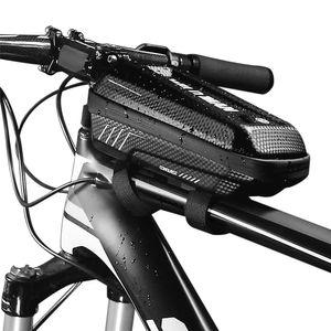Fahrrad-Rahmentasche Regenfeste Fahrrad-Oberrohrtasche Fahrrad-Rahmentasche mit doppeltem Reissverschluss