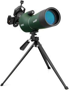 Svbony SV28 Spektiv Sportschützen 20-60x60 BAK4 Prisma MC Optik Monokular Teleskop Abgewinkeltes Okular Weites Sichtfeld Spektiv mit Stativ Handy Adapter für Vogelbeobachtung Wildlife Scenery