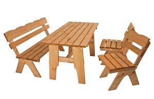 Garden Pleasure Tischgruppe SCHWARZWALD 4-teilig Kiefer geölt / Pinus sylvestrisMix Credit 960364