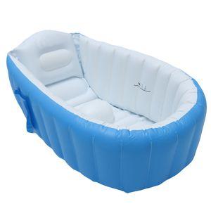 Aufblasbare Badewanne Luftbadewanne Planschbecken Badewanne für Kinder, 98 x 65 x 28cm -
