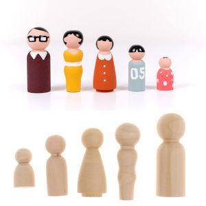 100x Handgefertigte Holzpuppen Holzfiguren Fmilie Puppen, DIY Handwerk und Geschenk