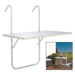 Balkontisch zum Hängen + klappbar weiß 60x40cm