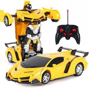 Rc Transformer 2 in 1 RC Car Driving Sportwagen fahren Transformation Roboter Modelle Fernsteuerung Auto RC Fighting Toy Gift