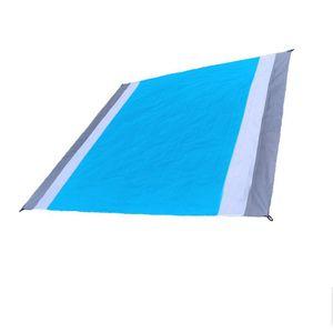 Wasserdicht Picknick Decke Camping Strand Matte Im Freien Reise Folding Teppich Doppelt Klappmatte Grau + Weiß + Blau