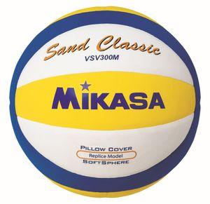 Mikasa Volleyball Sand Classic VSV300M Beachvolleyball Gr 5 weiß blau gelb