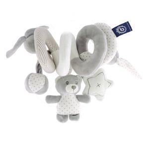 Bieco Kinderwagen Kette Design Cosmo | ca. 30x24 cm | Maxi Cosi Spielzeug, Mobile Babybett oder für Baby Laufgitter | Spielbogen Anhänger | Activity Spiel | Mobile Baby Spielzeug | Greifringe Baby
