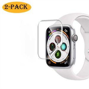 2x Apple Watch iWatch Series 6 / Watch SE 40mm NANO Panzerfolie Display Schutz Folie Screen Protector Schutzglas Panzerglas Full-Screen