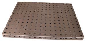 Schweißtischplatte 800x600x50 Bausatz 16mm Lochsystem