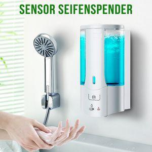 Automatischer Seifenspender Wandmontage Sensor Fluessigseifenspender 450ML
