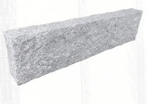 Palisade Kantenstein   Premium Granit hellgrau   10x25x100cm gestockte Oberkante   frachtfreie Lieferung in DE   keine Inseln