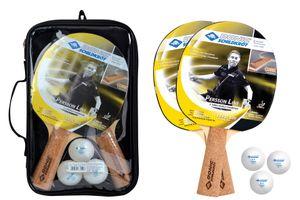 Donic-Schildkröt Tischtennis-Set Persson 500, 2 Schläger mit angenehmen Korkgriff, 3 Bälle in sehr guter 2* Qualität, wertige Tasche, komplette Ausstattung