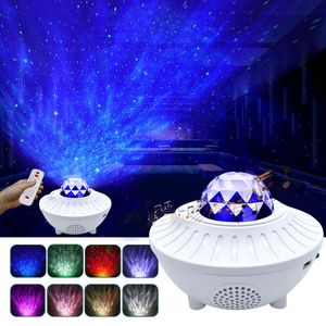 21 Muster Dimmer LED Projektor Sternenhimmel Lampe Wasserwellen-Welleneffekt Nachtlicht Nachtlamper Weiß
