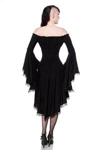 Carmen Jerseykleid, Farbe: Schwarz, Größe: 2XL