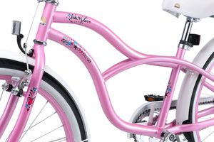 BIKESTAR Kinder Fahrrad ab 9 Jahre   24 Zoll Cruiser Kinderrad   Pink