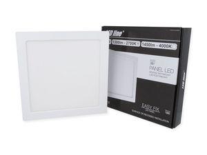 18W LED Panel Ultra Slim 14mm Aufbau Deckenleuchte Spot Leuchte Warmweiß 1300 Lumen Eckig
