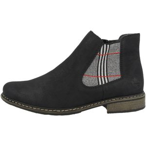 Rieker Damen Stiefeletten Chelsea Boots Z4994, Größe:41 EU, Farbe:Schwarz