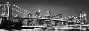 "Komar Vlies Fototapete ""Brooklyn Bridge"" - Größe: 400 x 140 cm (Breite x Höhe), 8 Bahnen"