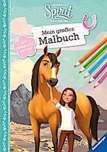 Dreamworks Spirit Wild und Frei: Mein großes Malbuch  Mit farbigen Seiten  Ill. v. DreamWorks Animation L.L.C.  Deutsch  durchg. farb. Ill.