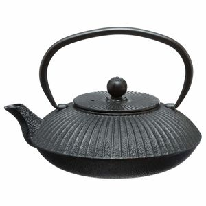 Teekanne aus Gusseisen, Profi-Teekanne, 800 ml, Schwarz