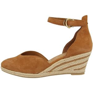 Tamaris Damen Sandalen Fesselriemen Keilabsatz 1-24402-26, Größe:37 EU, Farbe:Braun