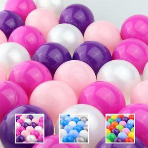 WELLGRO Bällebad - Bälle für Ballpool - 7cm Baby Spielbälle für Kinder - BPA frei - Hergestellt in der EU - Menge und Farbe wählbar, Farbe:Rosa, Stückzahl:100 Stück