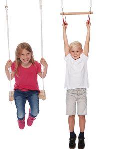Happy People gymnastik/Schaukel Set Holz hellbraun 40 cm